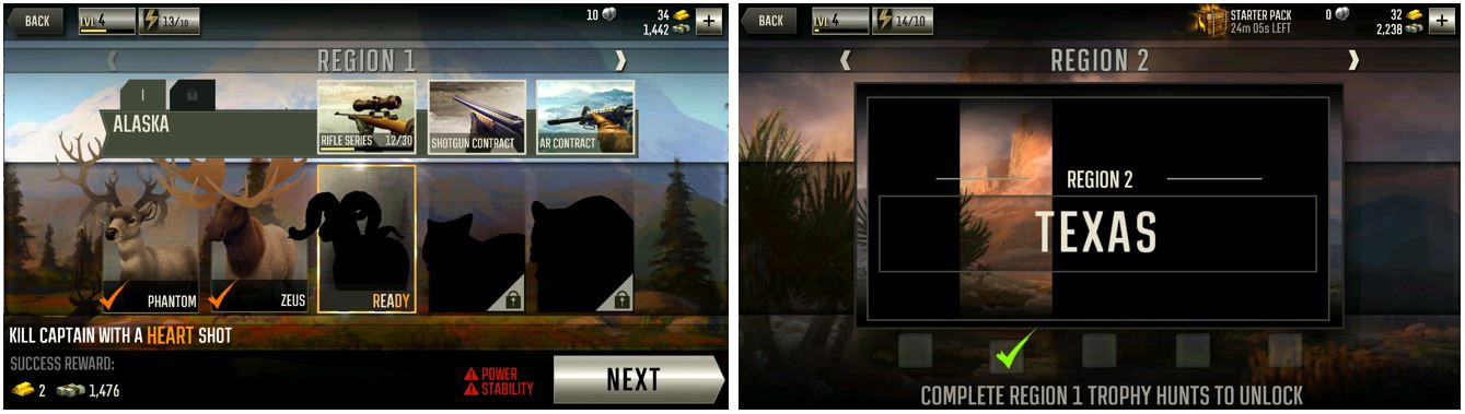 Deer Hunter 2016 Region Presentation and Transitions